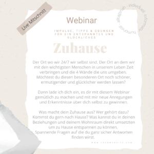 "Webinar ""Zuhause"""