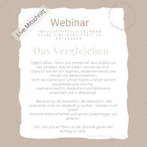 """Webinar """"Das Vergleichen"""""""